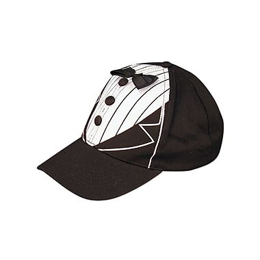Black Tux Cap, One Size Fits Most, 2/Pack