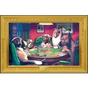 """Pyramid America™ C.M. Coolidge """"Dogs Playing Poker Bold Bluff"""" Poster"""