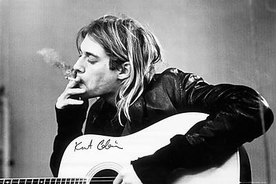 """Pyramid America™ """"Kurt Cobain Smoking"""" Poster"""