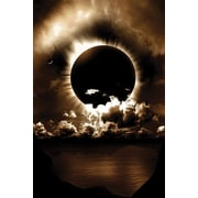 """Pyramid America™ """"Celestial Alignment Sun Moon & Clouds"""" Poster"""