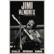 """Ace Framing """"Jimi Hendrix Copenhagen Denmark"""" Framed Poster, 36"""" x 24"""""""