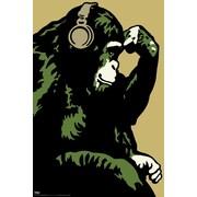 "Pyramid America™ ""Steez - Monkey Thinker"" Poster"