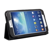 """Mgear Accessories 93587437M Synthetic Leather Double Fold case for 8"""" Samsung Galaxy Tab 3 Tablet, Black"""