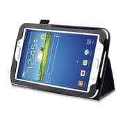 """Mgear Accessories 93587457M Synthetic Leather Double Fold case for 7"""" Samsung Galaxy Tab 3 Tablet, Black"""