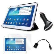 Mgear Accessories 93587844M PU leather Tri Fold Folio Case for Samsung Galaxy Tab 3 Tablet, Black