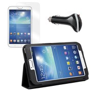 Mgear Accessories Samsung Galaxy Tab 3 Folio Case with Screen Protector & Car Charger