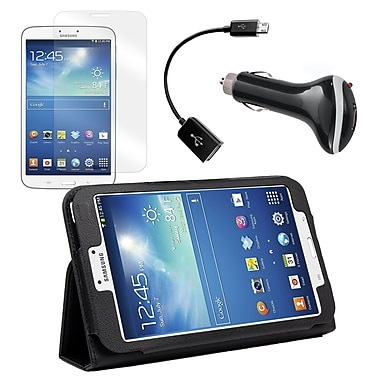 Mgear Accessories Samsung Galaxy Tab 3 Folio Case with Screen Protector, OTG Cable and Car Charger
