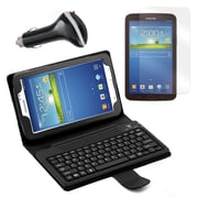 "Mgear Accessories Galaxy Tab 3 Bluetooth Keyboard Folio, Screen Protector & Car Charger 7"" Tab"