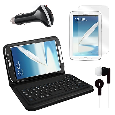 Mgear Accessories Bluetooth Keyboard Folio with Earphones, and More for Samsung Galaxy Note, 8