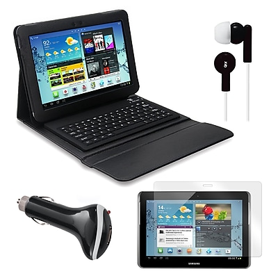Mgear Accessories Bluetooth Keyboard Folio with Earphones and More for Samsung Galaxy Tab, 10.1