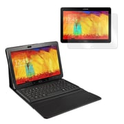 """Mgear Accessories 93587494M PU leather Bluetooth Keyboard Folio Case for 10.1"""" Samsung Galaxy Note Tablet, Black"""
