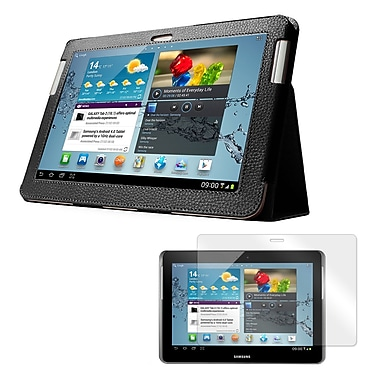 Mgear Accessories Samsung Galaxy Tab 2 Double Fold Folio Case with Screen Protector, 10.1