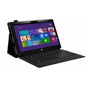 Mgear Accessories 93587693M Synthetic Leather Double Fold Folio Case for Microsoft Surface Pro 2 Tablet, Black