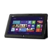 Mgear Accessories 93586743M Synthetic Leather Double Fold Folio Case for ASUS VivoTab Smart (ME400C) Tablet, Black
