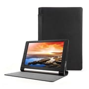"""Mgear Accessories 93586967M Synthetic PU Leather Folio Case for 10"""" Lenovo Yoga Tablet, Black"""