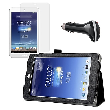 Mgear Accessories Folio Case with Screen Protector & Car Charger for ASUS Memo Pad 8
