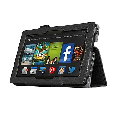 Mgear Accessories 93586846M Synthetic Leather Double Fold Folio Case for Amazon Kindle Fire HD 7 Tablet, Black