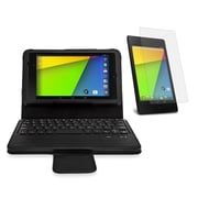 Mgear Accessories 93586799M PU leather Bluetooth Keyboard Folio Case for Google Nexus 7 2nd Gen Tablet, Black
