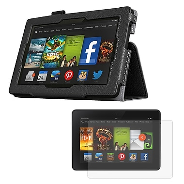 Mgear Accessories 93586849M Synthetic Leather Double Fold Folio Case for Amazon Kindle Fire HD 7 Tablet, Black