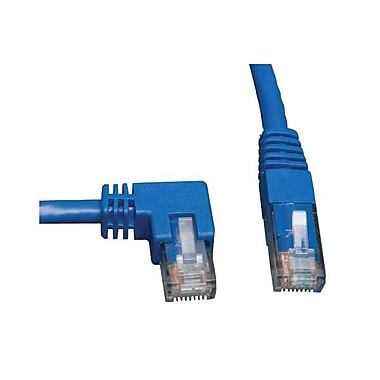 Tripp Lite® 5' Cat6 RJ-45 Male/Male Left Angle To Straight Patch Cable, Blue (N204-005-BL-LA)
