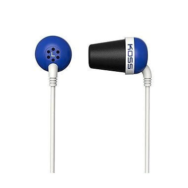 Koss PLUG B Wired In-Ear Headphone, Blue