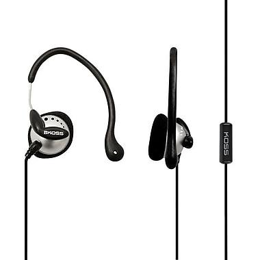 Koss KSC22I Wired Ear Clip Headphone, Black/Silver