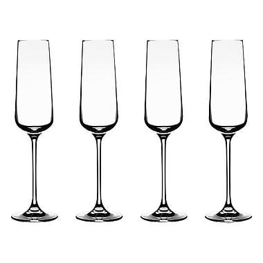 Conair® Vivere Champagne Flute Glass, 4/Set