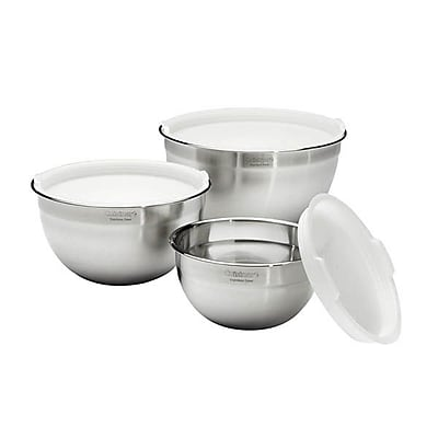 Cuisinart® Stainless-Steel Mixing Bowls With Lids