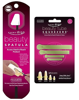 Every Beauty™ Every Drop® Beauty Spatula, Beauty Tube Squeezer, 2/Pack