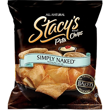 Stacy s Pita Chips Simply Naked 3 Oz., 12/Pack