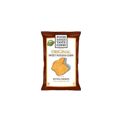 Food Should Taste Good Original Sweet Potato Chips, Kettle Cooked 24/Pack 1 Oz.