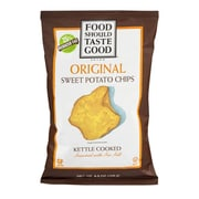 Food Should Taste Good Original Kettle Cooked Sweet Potato Chips 4.5 Oz. 8/Pack