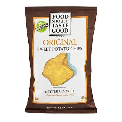 Food Should Taste Good Original Kettle Cooked Sweet Potato Chips 4.5 Oz. 8/Pack