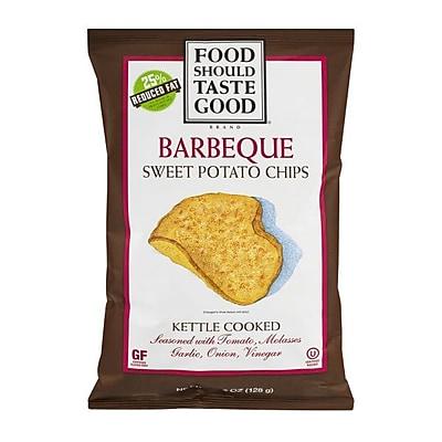 Food Should Taste Good Barbeque Chips Good Kettle Cooked 4.5 Oz., 8/Pack