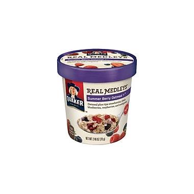Quaker Real Medleys Summer Berry Oatmeal 2.46 Oz., 12/Pack