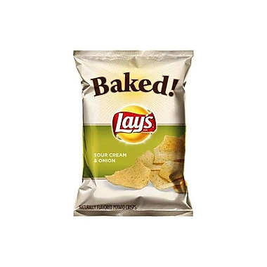 Lays Baked Sour Cream and Onion Potato Chips 1.12 Oz., 48/Pack