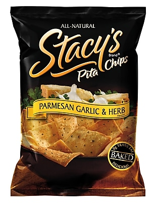 Stacy s Pita Chips, Parmesan Garlic & Herb 36/Pack 1.5 Oz.