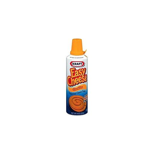Kraft Easy Cheese Cheddar, 6/Pack