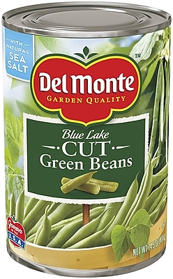 Del Monte Cut Green Beans 14.5 Oz Can, 12/Pack