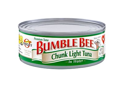 Bumble Bee Foods Chunk Light Tuna In Water 5 Oz, 16/Pack