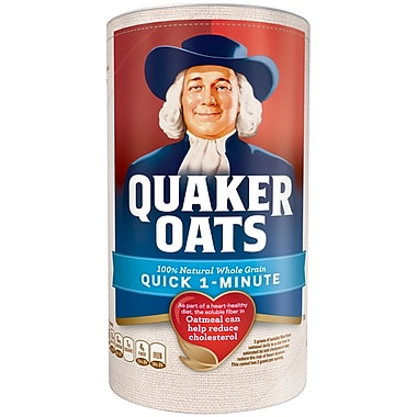 Quaker 100% Whole Grain 1 Minute Oatmeal 18 Oz, 8/Pack