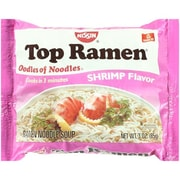 Top Ramen Shrimp Flavor 3 Oz Noodle Soup, 64/Pack