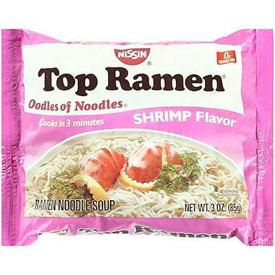 Top Ramen Shrimp Flavor 3 Oz Noodle Soup, 64/Pack