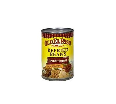 Old El Paso Refried Beans Traditional 1 lbs., 16/Pack 1057671
