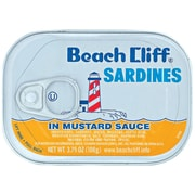 Beach Cliff Sardines in Mustard Sauce 0.2 lbs., 24/Pack