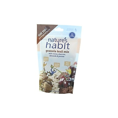 Nature s Habit Granola Trail Mix with Cocoa, Cherries, Almonds and Pecans 4 Oz. Pouches 16/Pack