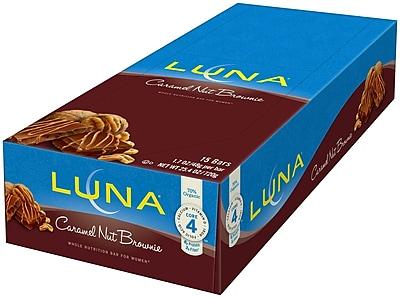Luna Bars Caramel Nut Brownie 25.4 Oz. Nutrition Bar, 30/Pack