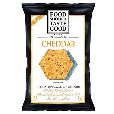 Food Should Taste Good Tortilla Chips, Cheddar 24/Pack 1.5 Oz..