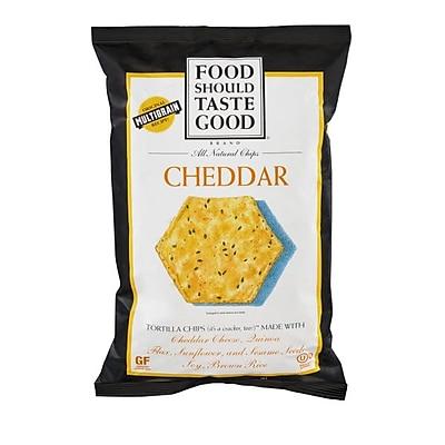 Food Should Taste Good Chip Tortla Cheddar Gf, 5.5 OZ. 8/Pack
