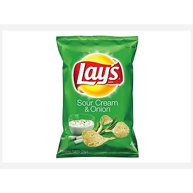 Lay s Sour Cream & Onion Potato Chips 1.5 Oz., 48/Pack